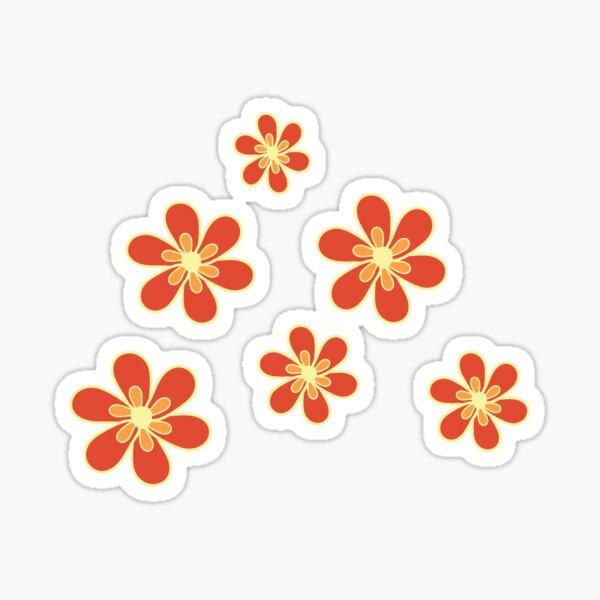 orange flowers Sticker