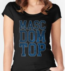 Masc Dom Top Women's Fitted Scoop T-Shirt