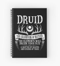 DRUID, THE CHAMPION OF NATURE - Dungeons & Dragons (Black) Spiral Notebook