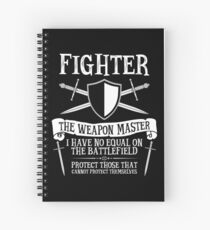 FIGHTER, THE WEAPON MASTER - Dungeons & Dragons (Black) Spiral Notebook