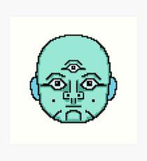 8-bit Simulation Citizen Art Print