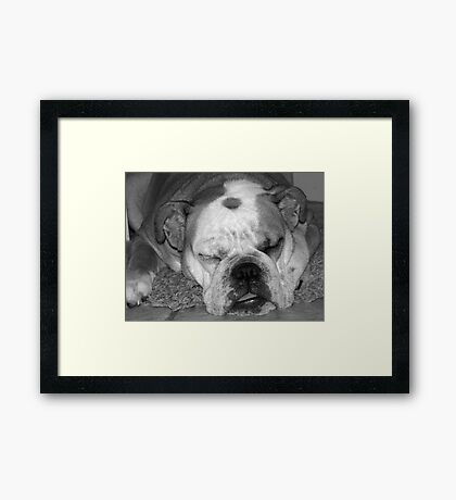 Wake me up when you are done... Framed Print