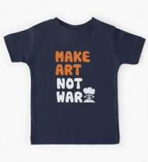 Make Art Not War Kids Tee