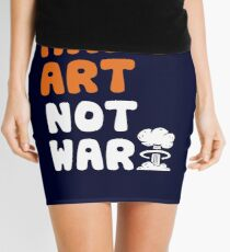 Make Art Not War Mini Skirt