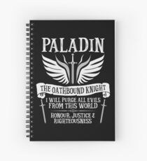 PALADIN, THE OATHBOUND KNIGHT- Dungeons & Dragons (White) Spiral Notebook
