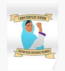 Malala - jedes Mädchen Poster