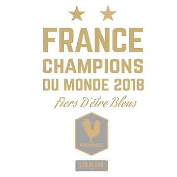 France Champion Du Monde 2018 • Les Bleus • Football World Cup Champion 2018 ID 5-2 by UNIQ-Apparel