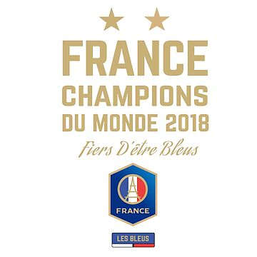 France Champion Du Monde 2018 • Les Bleus • Football World Cup Champion 2018 ID 5-1 by UNIQ-Apparel