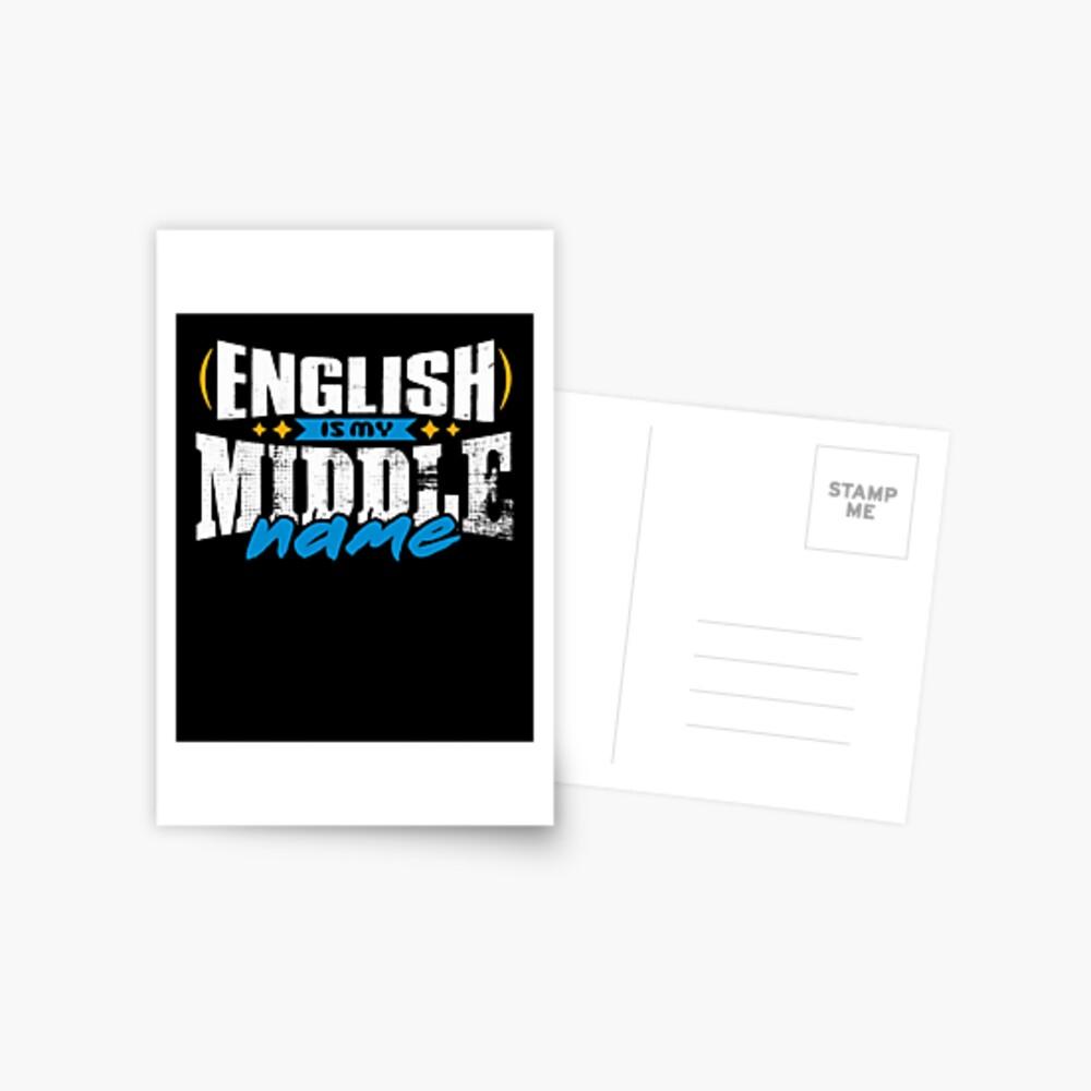 ENGLISH 01 Postcard