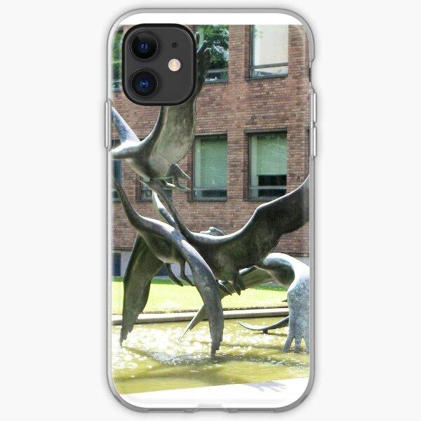 Swans in Flight iPhone Soft Case