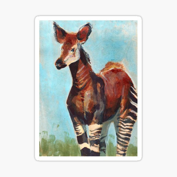 Okapi Endangered Animal Series Sticker