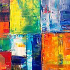 Abstract textured squares and rectangles by Steve Johnson