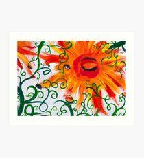 Lámina artística Ojos de flores, detalle 2