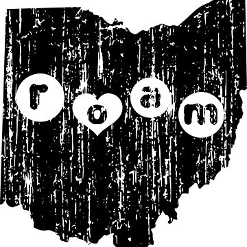ROAM OHIO - POPULAR DISTRESSED STATE DESIGN by NotYourDesign