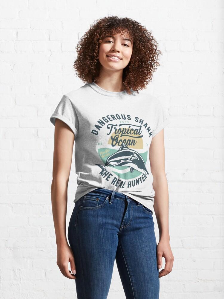 Alternate view of Dangerous Shark Real Hunter T-shirt Classic T-Shirt