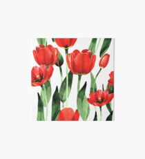 Tulips garden  Art Board