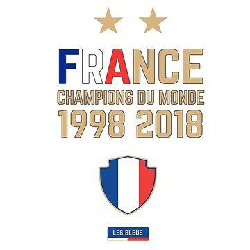 France Champion Du Monde 2018 • Les Bleus • Football World Cup Champion 2018 ID 4-1 by UNIQ-Apparel
