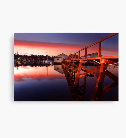 Mosman Bay Boatshed  Canvas Print