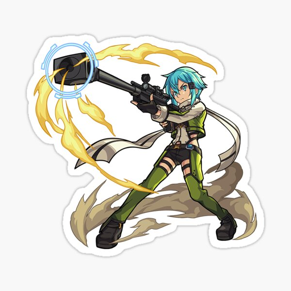 Monster Strike Sinon Sticker