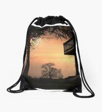 Castle Leak Sunset Drawstring Bag