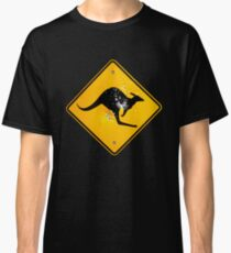Kangaroo road sign Classic T-Shirt