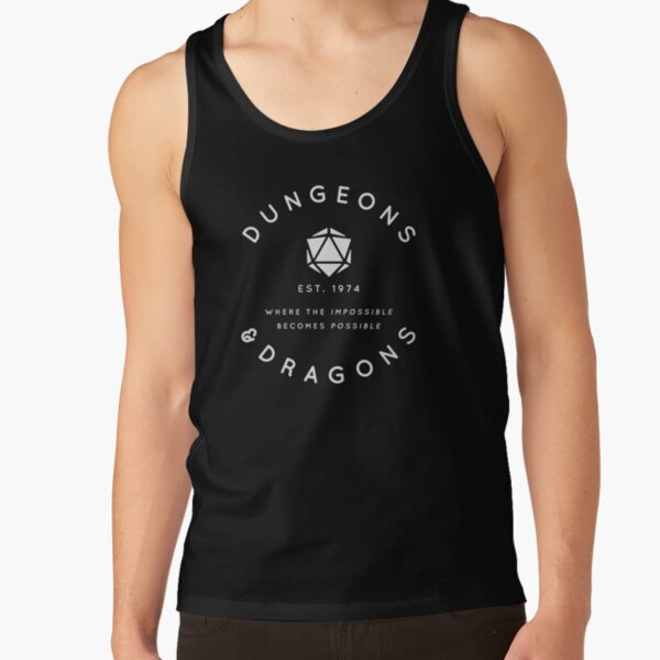 DUNGEONS & DRAGONS - WHERE THE IMPOSSIBLE BECOMES POSSIBLE (White Text) Tank Top