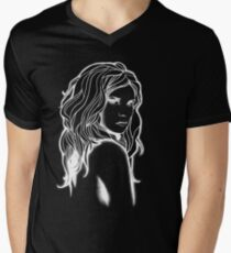 White Lady Men's V-Neck T-Shirt