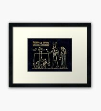 Weighing of the Heart Framed Print