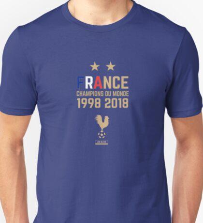 France Champion Du Monde 2018 • Les Bleus • Football World Cup Champion 2018 ID 4-2 T-Shirt