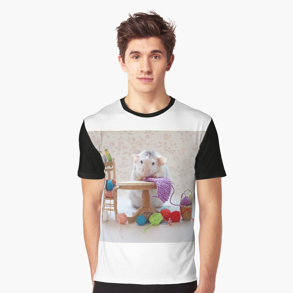 Rosie knitiing with friends Graphic T-Shirt