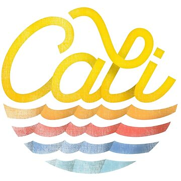 Cali - Sunny California Beach Vibe Typography Design by sebastianst