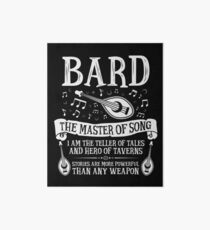 BARD, THE MASTER OF SONG - Dungeons & Dragons (White) Art Board