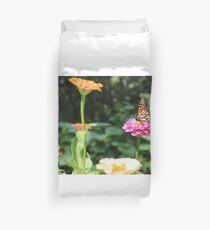 Butterfly, Flower Garden  Duvet Cover