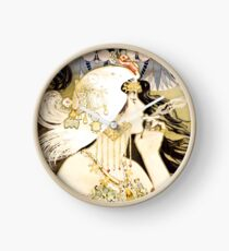 HD.  Art Nouveau JOB Cigarette, by Manuel Orazi . HIGH DEFINITION Clock