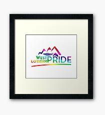 West Lothian Pride Logo Framed Print
