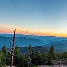 Sunset Panorama From Pat's Knob by Bryan D. Spellman