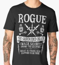 ROGUE, THE SHROUDED BLADE - Dungeons & Dragons (White Text) Men's Premium T-Shirt