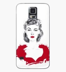 Burgundy or Scarlett Case/Skin for Samsung Galaxy