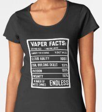 Funny Vape Shirt Vape Facts Vaping Vaper  Women's Premium T-Shirt