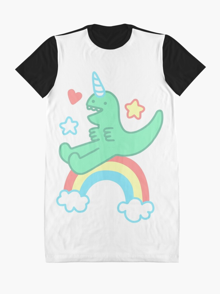 Alternate view of T-REXICORN Graphic T-Shirt Dress