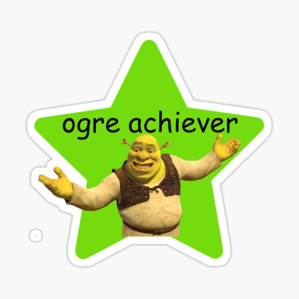 shrek pun Sticker