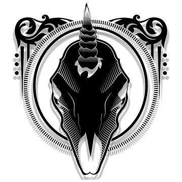 Unicorn Logo-Black Variant by CJOrazi