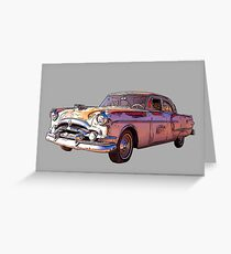 Vintage Packard Caribbean 1953 Greeting Card
