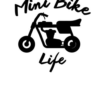 Mini Bike Life Shirts, Stickers, Spiral Notebooks, and Pillows by ptyarb