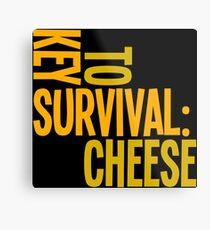 Cheese survival Metal Print