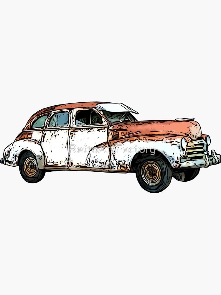 Vintage Rusty Car by RetroArtFactory