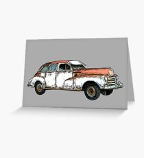 Vintage Rusty Car Greeting Card