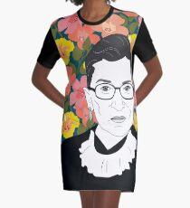 Ruth bader Ginsburg Blumen T-Shirt Kleid