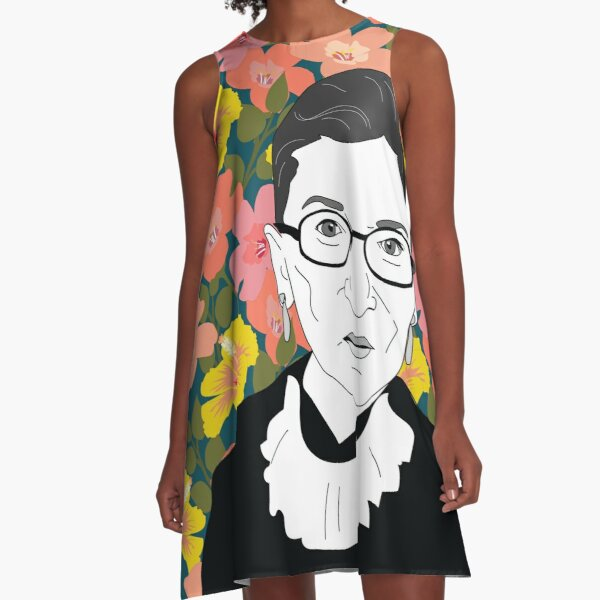 Ruth bader Ginsburg Floral A-Line Dress