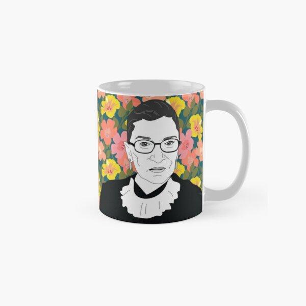 Ruth bader Ginsburg Floral Classic Mug